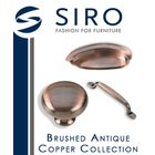 [ Siro Cabinet Hardware - Penny Savers - Brushed Antique Copper Collection ]