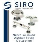 [ Siro Cabinet Hardware - Nuevo Classico Antique Silver Collection ]
