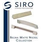 [ Siro Cabinet Hardware - Belina Matte Nickel Collection ]