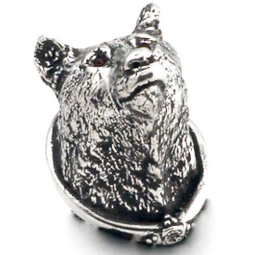 ... Carpe Diem Cabinet Hardware   Large Bear Head Knob With Swarovski  Elements ...