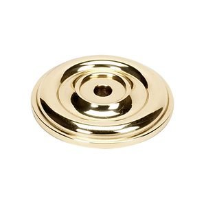 "Alno Creations Cabinet Hardware - Bella - Solid Brass 1 5/8"" Rosette for A1452 Knob in Polished Brass"