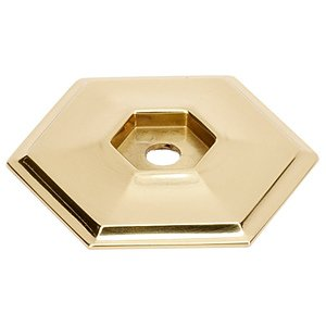 "Alno Creations Cabinet Hardware - Nicole - Solid Brass 1 5/8"" Backplate for A424 Knob in Unlacquered Brass"