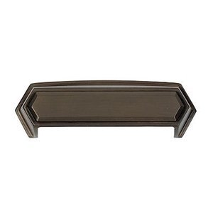 "Alno Creations Cabinet Hardware - Nicole - Solid Brass 4"" Centers Cup Pull in Chocolate Bronze"