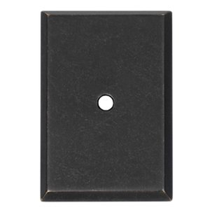 "Alno Cabinet Hardware - 1 1/2"" Rectangle Knob Backplate in Barcelona"