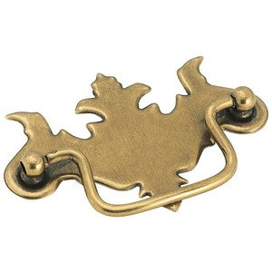"Amerock Classic Accents Burnished Brass Finish Zinc Die Cast 3"" (76mm) Centers Chippendale Bail Pull"