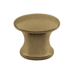 "Classic Brass Sanibel 1/2"" (13mm) Knob in Weathered Brass"