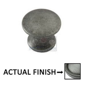 "Classic Brass Sanibel 1/2"" (13mm) Knob in Weathered Pewter"