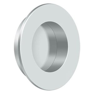 Deltana - Solid Brass Round Flush Pull in Polished Chrome