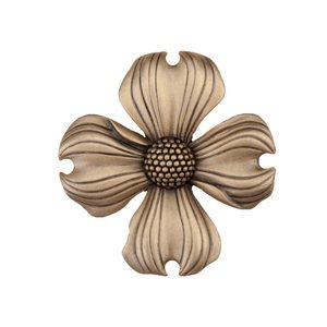 "Acorn Hardware - Artisan - 1 1/2"" Dogwood Knob in Museum Gold"