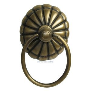 "Gado Gado Brass 2 5/8"" Ring Pull with Melon Backplate"