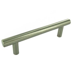 "Hafele Cabinet Hardware - 3 3/4"" Centers Handle in Stainless Steel"