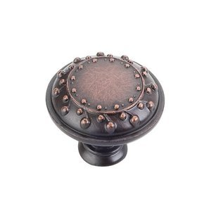 "Jeffrey Alexander by Hardware Resources - Venizia - 1 1/4"" Diameter Nouveau Knob in Brushed Oil Rubbed Bronze"