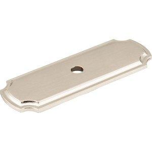 Jeffrey Alexander By Hardware Resources   Backplates   Knob Backplate In  Satin Nickel