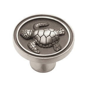 Liberty Kitchen Cabinet Hardware   Betsy Fields Design   Coastal Collection  Turtle Knob 1 3/