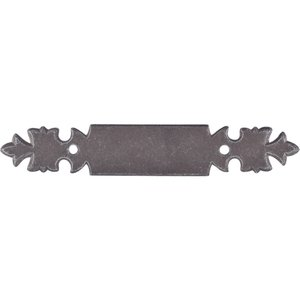 "Top Knobs - Normandy Collection - 3"" Handle Backplate in Pewter"