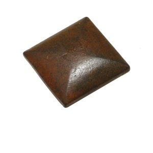 "Richelieu Hardware - Styles Inspiration - Cast Iron 1 3/8"" Square Knob in Rust"