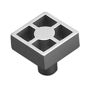 "Richelieu Hardware - Contemporary Inspiration - 15/16"" Long Square Framework Knob in Matte Chrome"
