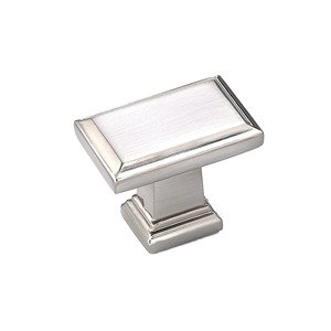 "Richelieu Cabinet Hardware - 1 1/2"" Rectangle Knob In Brushed Nickel"