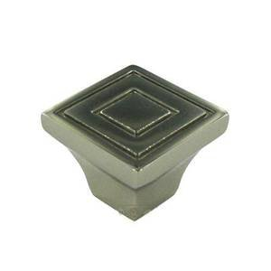 "RK International Hardware - 1 1/16"" Contemporary Square Knob In Polished Nickel"