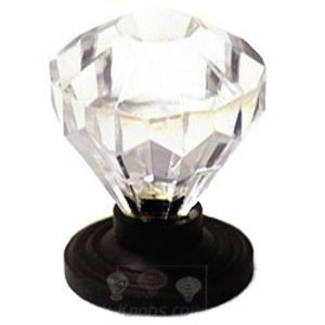 RK International Hardware Acrylic and Glass - Acrylic Diamond Cut Knob in Oil Rubbed Bronze