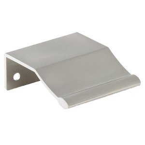 "Siro Cabinet Hardware - Etcetera 1 1/4"" Centers Edge Pull in Fine Brushed Nickel"