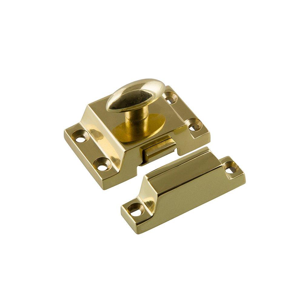 Nostalgic Warehouse   Cabinet Hardware   Plain Flush Catch In Unlacquered  Brass