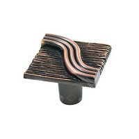 Abstract Designs - Textured and Tied - Square Textured Knob in Oil Rubbed Copper