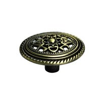 Abstract Designs - Tuscany - Knob in Satin Antique Brass