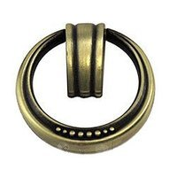 Abstract Designs - Beaded Elegance - Ring Pull in Satin Antique Brass