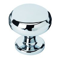 "Alno Inc. Creations - Knobs V - Solid Brass 1 1/4"" Knob in Polished Chrome"