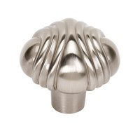 "Alno Inc. Creations - Venetian - Solid Brass 1 1/2"" Knob in Satin Nickel"