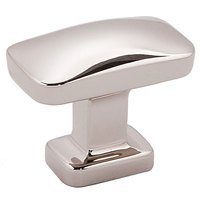 "Alno Inc. Creations - Cloud - 1 1/4"" Rectangular Knob in Polished Nickel"
