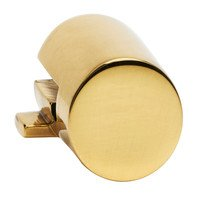 "Alno Inc. Creations - Convertibles Ring Pulls - Large Round Mount for Rings 3"" and 3 1/2"" in Polished Brass"