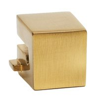 "Alno Inc. Creations - Convertibles Ring Pulls - Small Square Mount for Rings 1 1/2"", 2"", 2 1/2"" in Polished Brass"