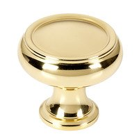 "Alno Inc. Creations - Charlie's - 1 1/4"" Knob in Unlacquered Brass"