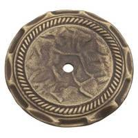 "Amerock - True Elegance - 2"" Diameter Allison Knob Backplate in Antique Brass"