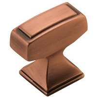 "Amerock - Mulholland - Knob 1 1/4"" Rectangle in Brushed Copper"