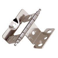 "Amerock - Full Inset Cabinet Hinges - Full Inset, Full Wrap, 3/4"" Door Thickness, Minaret Tip (Sold Individually)- Sterling Nickel"