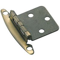 Amerock - Non Self-Closing Face Mount Cabinet Hinges - Variable Overlay Hinge (Pair) in Antique Brass