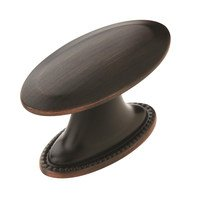 "Amerock - Atherly - 1 1/2"" Oval Knob in Oil Rubbed Bronze"