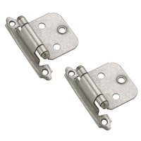 Amerock - Weathered Nickel Super Values - Self Closing Face Mount Variable Overlay Hinge (Pair) in Weathered Nickel