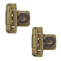"Amerock - Demountable Cabinet Hinges - Double Demountable 3/8"" Inset Hinge (Pair) in Burnished Brass"