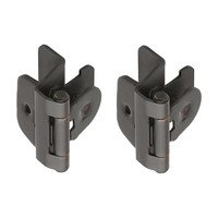 "Amerock - Oil Rubbed Bronze Super Values - Double Demountable 1/4"" Overlay Hinge (Pair) in Oil Rubbed Bronze"