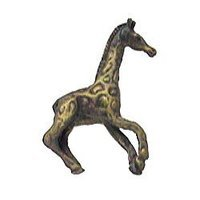 Anne at Home - African - Giraffe Knob (Facing Right) in Pewter Matte