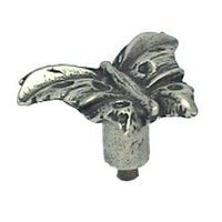 Anne at Home - Bees & Butterflies - Butterfly - Large Knob in Pewter Matte