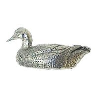 Anne at Home - Farm Animal - Duck Pull (Facing Left) in Pewter Matte