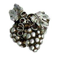 Anne at Home - Fruit and Vegetable - Grapes Cluster Knob - Left in Pewter Matte