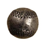 Anne at Home - Sports - Baseball Knob in Pewter Matte
