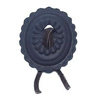 Anne at Home - Western - Large Concho with Leather Knob in Pewter Matte