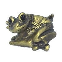 Anne at Home - Frogs & Lily Pads - Frog Knob (Bug-Eyed) in Pewter Matte